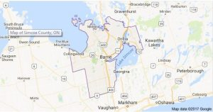 Map of Simcoe County